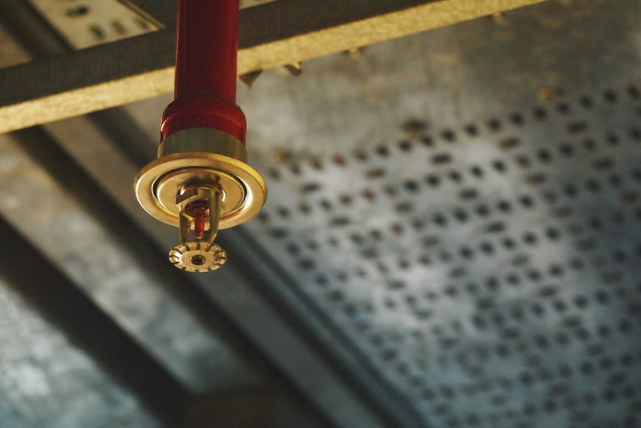 Automatic Fire Sprinkler in red water pipe System